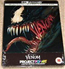 Venom Limited Edition Steelbook 4K UHD+2D Blu Ray / WORLDWIDE SHIPPING