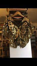 Sparkling Gold Evening Blouse With Sequins