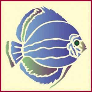 TROPICAL DISCUS FISH STENCIL - ANIMAL STENCILS -The Artful Stencil
