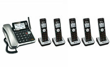 AT&T Corded Cordless Walkie-Talkie DECT 6.0 Cordless Phone System 6 Handsets
