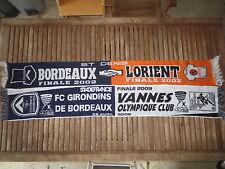 Lot 2 Echarpe GIRONDINS de BORDEAUX Finale COUPE de la LIGUE Lorient Vannes