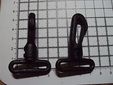 "2pcs. Black Plastic Swivel Snap Hook Clip Bag Buckle for Webbing - 30mm ""103-PS"""