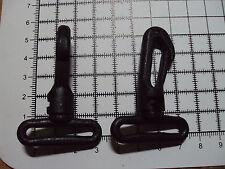 "2pcs. Black Plastic Swivel Snap Hook Clip Bag Buckle for Webbing - 30mm ""103-PS"""