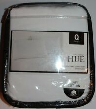 New Hue Home Queen Bright White 4 Pc Queen Sheet Set 100% Cotton
