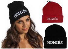 Bennie Hat Cap Unisex Hommies Homies UK Badass Warm Novelty Hats Red Black
