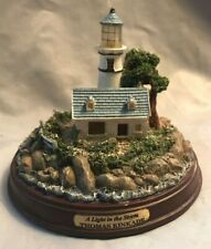 "Thomas Kinkade ""A Light in the Storm"" Lighthouse Seaside Memories"