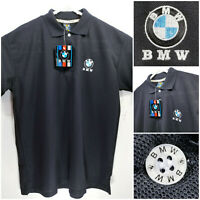 NWT BMW Mens Large Polo Shirt Black