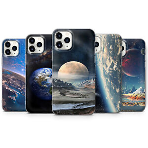 Earth Space Art Phone Case Cover For iPhone 7 8 11 11 Pro 12 12 Pro  X XS XR G58