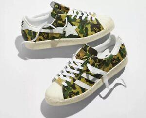 NEW Adidas Superstar 80s x BAPE ABC Camo 2021 Size 12 GZ8981