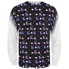 Galaxy Unicorn Pattern All Over Mens Long Sleeve T Shirt