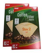 80 X Taille 102 1x2 Filtre à Café Cônes en Papier non Blanchi pour