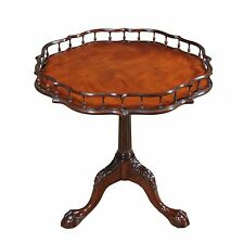 NSI090, Niagara Furniture, Chippendale Gallery Table, Round Mahogany Table