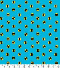 Batman Logo Fabric Blue 100% Quality Cotton