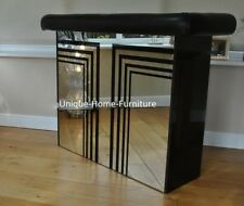 Wine Storage Cabinet Modern Glass Furniture Venetian Mirrored Drinks Bar  Table