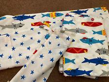 Frugi Shark UK Single Bedding Duvet set, Pillowcase, Duvet Cover And Bag Bnwot