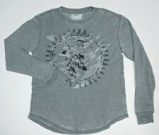 NEW RETRO FIT LIGHT GRAY EAGLE PRINT CASUAL LT WEIGHT THERMAL SHIRT SIZE M