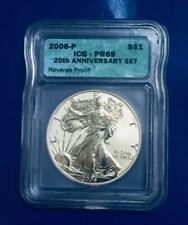 2006-American Silver Eagle Reverse Proof ICG MS 69