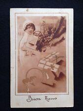 A151 1935 Buon Anno formato piccolo viaggiata annullo targhetta Prestito