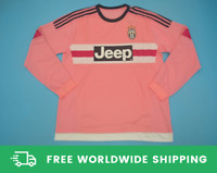 Juventus 2015-2016 Away Rose Long-Sl Jersey Maglia Shirt Pogba Dybala Sizes S-XL