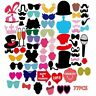 77pcs Photo Booth Party Props Children Kids Adult Birthday Party Funny Game kit