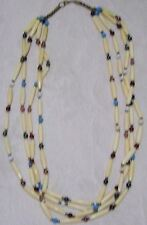 Vintage Hand Made Multi Bead Tribal Necklace