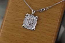Antique Design Heart Pendant & Chain with Diamond 14kt W/G