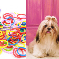 1 bag Lots Rubber Band Pet Hair Dog Grooming Bow Colorful for Pet Beauty *