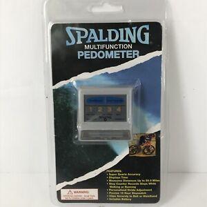 VTG Spalding Multifunction Quartz Pedometer New/Sealed Time Distance Steps (AA)