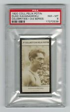 PSA 8 DUKE KAHANAMOKU 1920 Collection Felix Potin Card 3rd Series SPECTACULAR