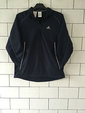 ADIDAS NAVY BLUE URBAN VINTAGE RETRO OVERHEAD TRACK ATHLETIC SPORTS TOP SIZE XS