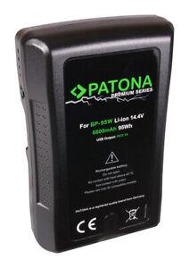 Akku V-Mount 95Wh für Sony 14,4V 6600mAh BP-95WS D-Tap USB Ausgang Patona BP190w