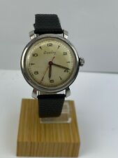 Vintage Breitling 123 Military Style Stainless Vintage Mens Watch