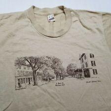 Vtg Marlton New Jersey T-Shirt Mens L Historic Main St Screen Stars USA 90s =93