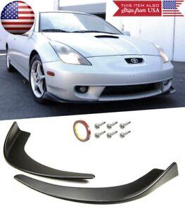 Bumper Lip Diffuser Fin Spoiler Splitters Black Winglet Blade For Honda  Acura