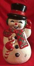 Vintage Christmas Atlantic Mold Hand-painted Snowman 13""