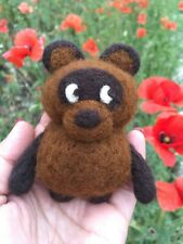 Felted toy little bear Winnie Pooh  needle felted toy Handmade