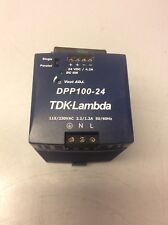 TDK-Lambda Power Supply, DPP100-24, Input: 115/230VAC, 100W, Output: 24V @ 4.2A