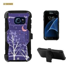 Beyond Cell Shell Case Armor Kombo For Samsung Galaxy S7 Purple Night