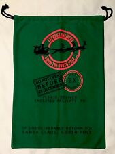 Jumbo Christmas Gift Bag Santa Cotton Sack Drawstring 19� x 27�, Nwot
