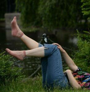 Mysocks Fashionable Half Sheer Polka Dot Socks