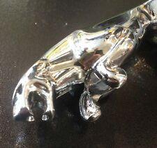 "Front mudguard crest leaping jaguar in chrome (5"") for Vespa PX & LML Star"