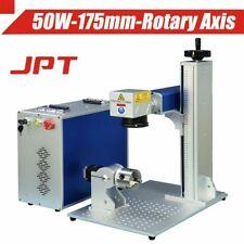 JPT50W Fiber Laser Marking Machine 175*175mm D80 Rotary FDA CE Certified