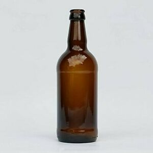 48x 500ml Round Glass Cider, Beer Amber Bottles by KegThat