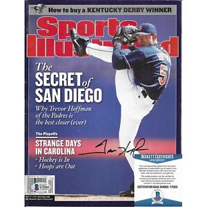 Trevor Hoffman Signed S.D. Padres Sports Illustrated SI Beckett BAS Autograph