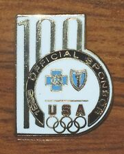 Usa Olympics 100 Official Sponsor 1996 Blue Cross & Shield Collectible Pin-Back!