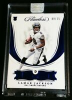 RC JSY # 8/15 LAMAR JACKSON SAPPHIRE GEMSTONE PANINI SEALED ROOKIE 2018 Flawless