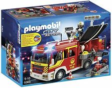 Playmobil 5363 City Action Fire Engine with Lights and Sound First Class Post