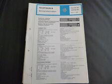 Original Service Manual Telefunken Gavotte 301 Jubilate 401