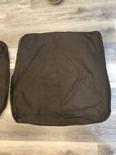 Ikea EKTORP 3 Seat Slip Covers Dark Brown, (3) 26x26 And One 25x21