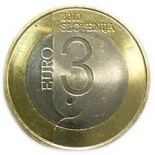 3 euro Slovenia 2010 Lubiana Capitale Mondiale del Libro